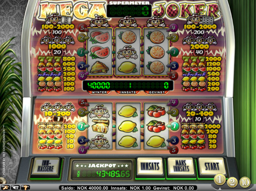 Mega Joker gratis spinn for deg som en ny spiller hos CasinoEuro